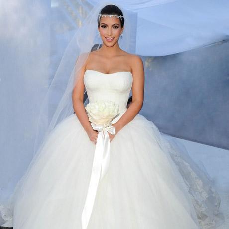 sukienka ślubna Kim Kardashian