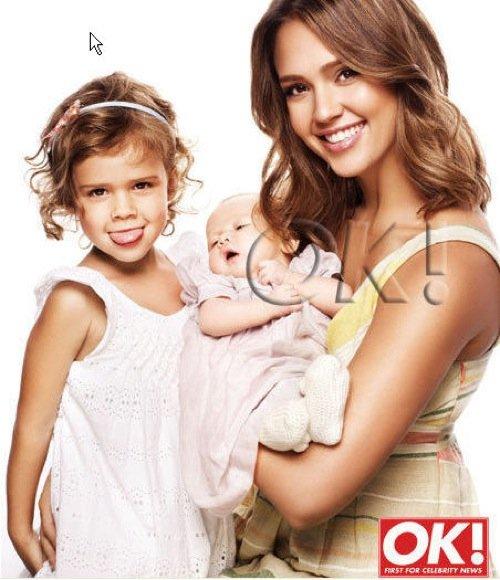 Jessica Alba z córkami