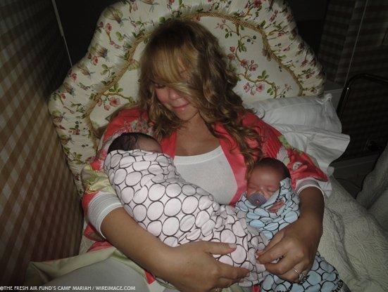 Mariah Carey z bliżniakami