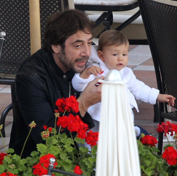 Javier Bardem z synkiem Leo