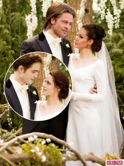 Angelina Jolie w sukni ślubnej