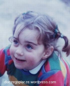 Kate Middleton w wieku 3 lat.