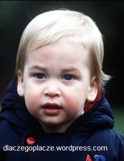 Książę William w wieku 18 miesięcy