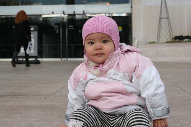 Amelia przed muzeum historii USA