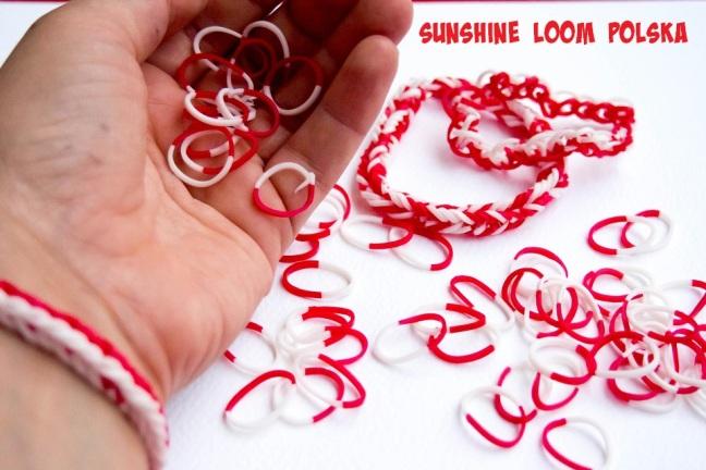 biało-czerwone bransoletki na mistrzostwa europy :)