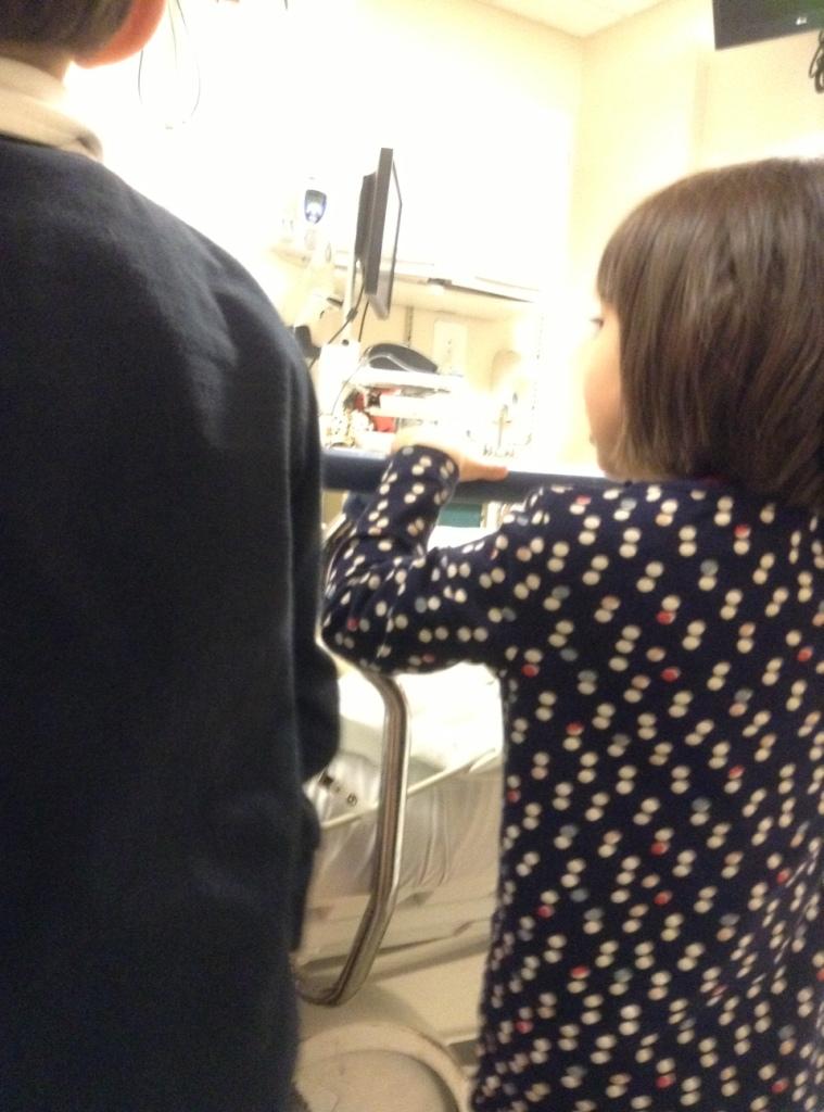 W szpitalu, zdjęcie robiła Helenka.