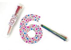 Długopis żelowy brokatowy 6 w jednym OOLY